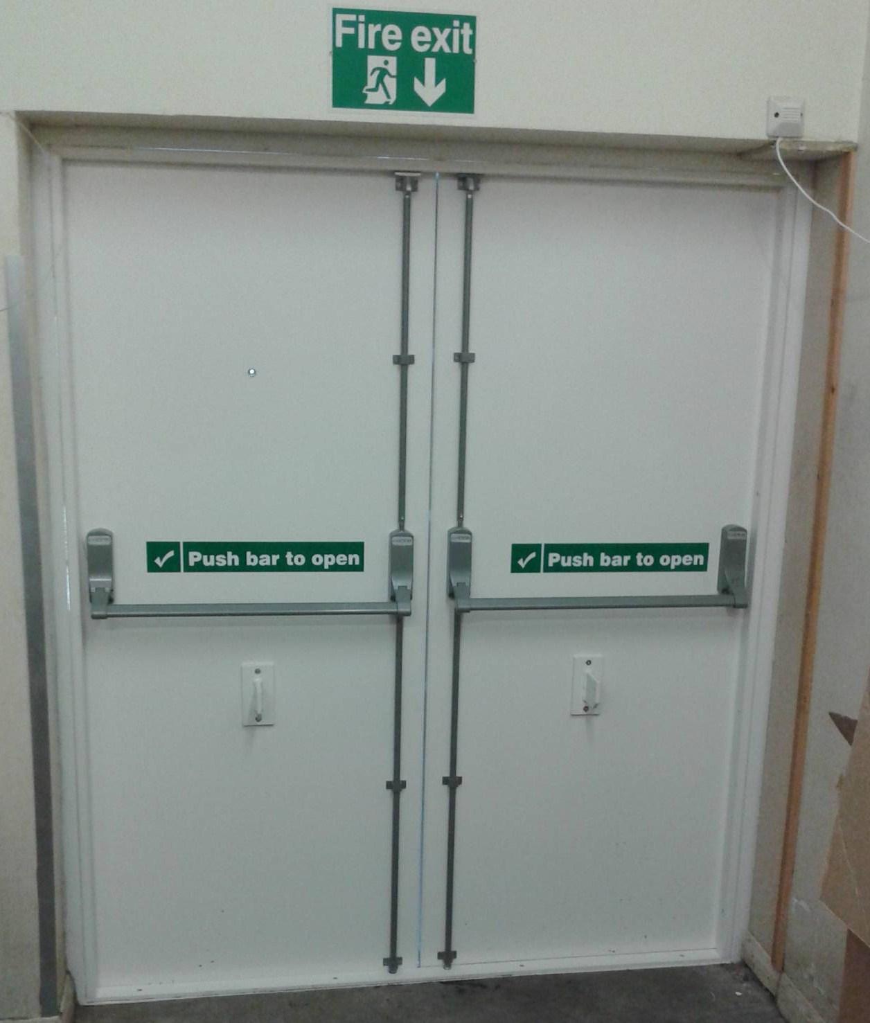 Fire Exit Door : Steel doors install repair security shutters ltd